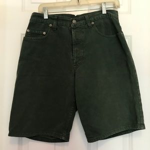 Men's Green Denim Shorts